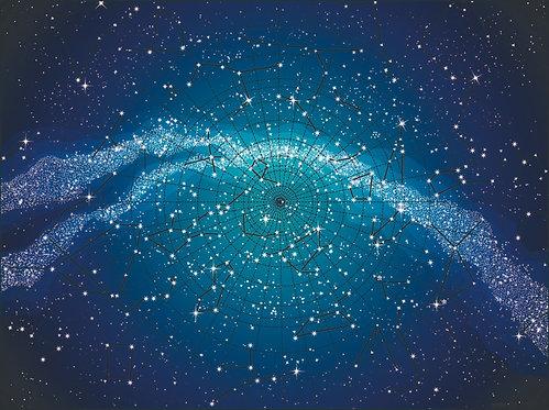 Фотообои. Фрески. Картины. Астрономическая карта. Звезды и созвездия