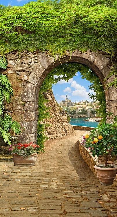 Морской пейзаж с каменной аркой