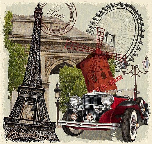 Парижский винтажный постер