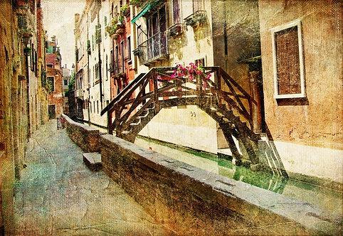 Венецианский канал в стиле ретро