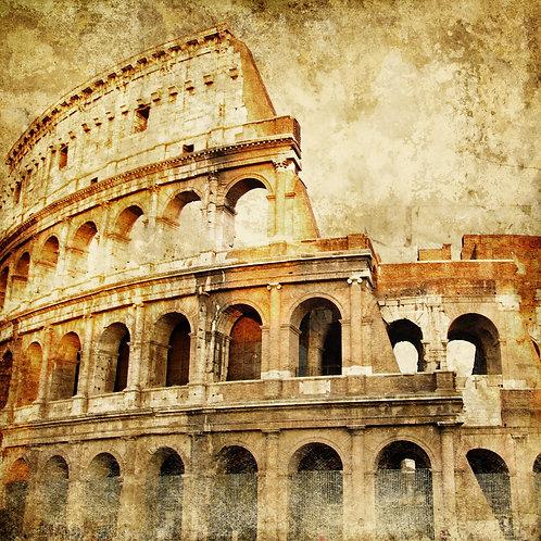 Большой римский Колизей в ретро-стиле