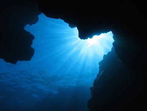 Динамичный подводный пейзаж - остров Агуни, Окинава