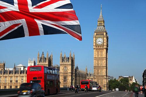 Биг-Бен и красный лондонский автобус