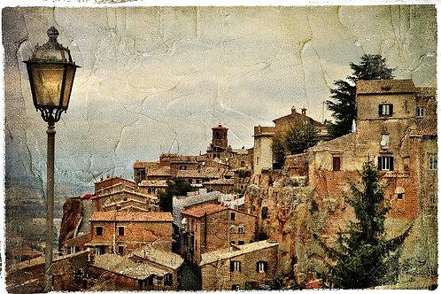 Вид на средневековый Орвието в Италии