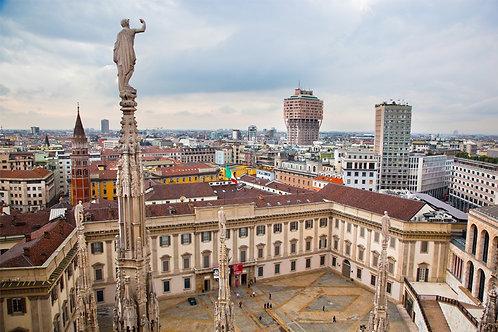 Панорамный вид с крыши Миланского собора - Италия