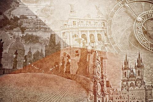 Прага в винтажном стиле