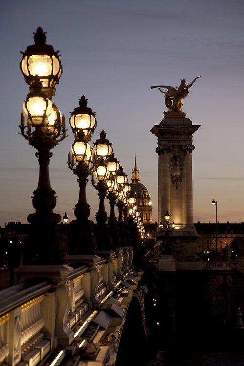 Мост Александра III. Ночь в Париже