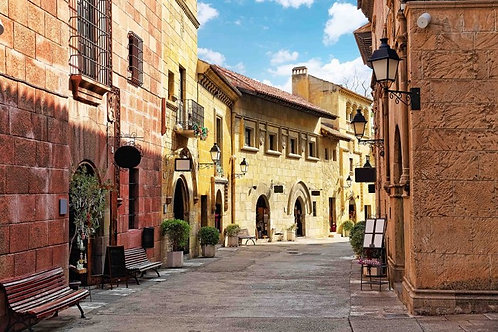 Уютная улочка в Каталонии - Испания