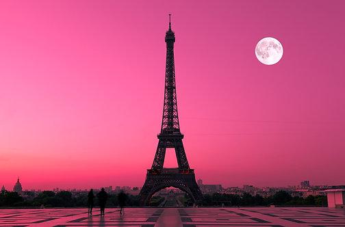 Вид с Трокадеро на Эйфелеву башню в Париже