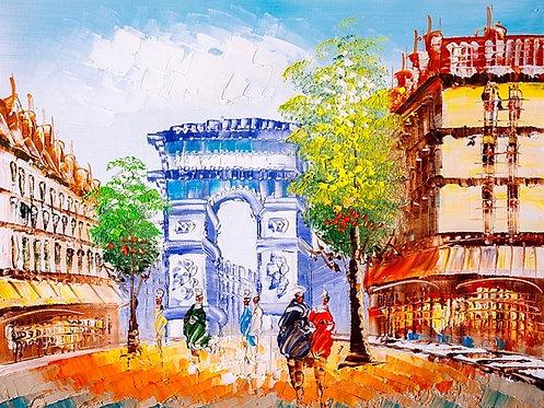 Улицы Парижа - живопись маслом