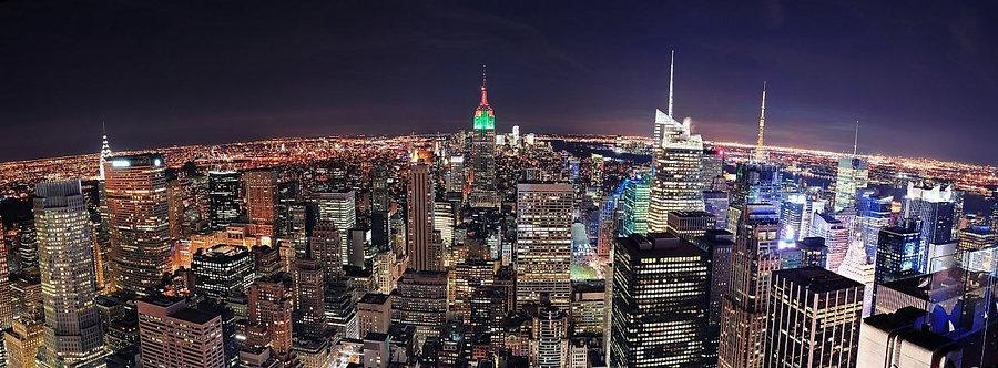 Ночной вид Нью-Йорка