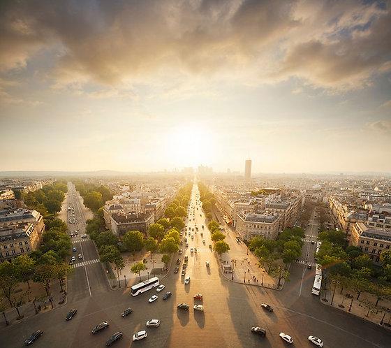 Вид на Париж с Триумфальной арки
