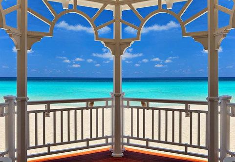 Фреска. Терраса. Вид на море. Атлантический океан. Варадеро. Куба