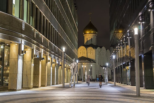 Улица ночью в Москве