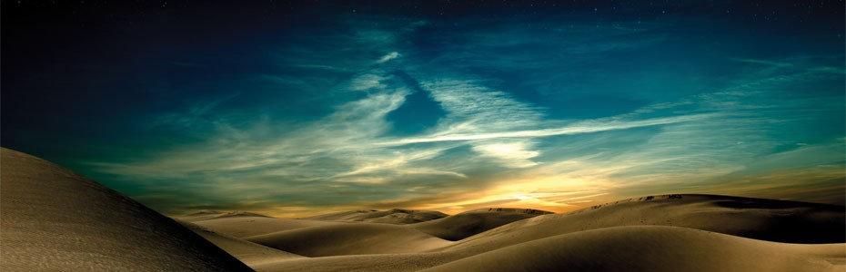 Фотообои. Фрески. Картины. Пустыня. Ночь. Песчаные дюны. Природа. Пейзаж