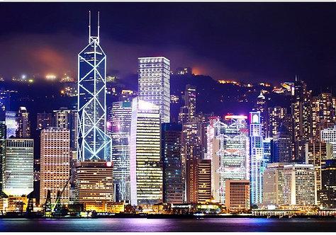Ночной вид Гонконга