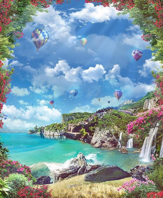 Фотообои. Фрески. Картины. Морской пейзаж. Воздушные шары. Водопады. Цветы