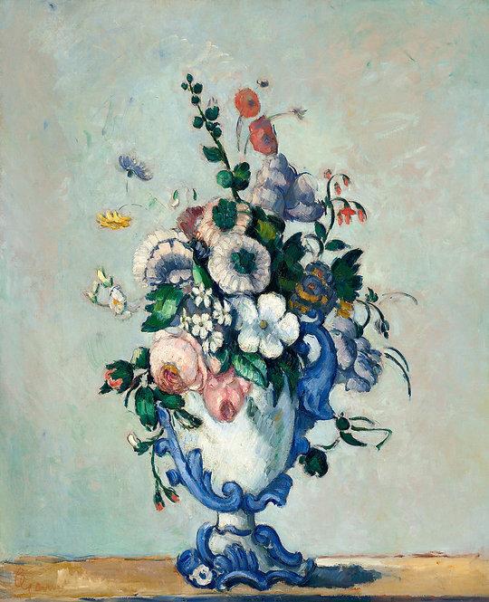 Живопись маслом на холсте с цветами в вазе - пост-импрессионизм