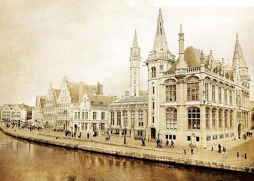 Вид Бельгии в стиле сепия