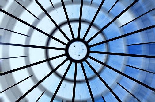 Витражный потолочный купол