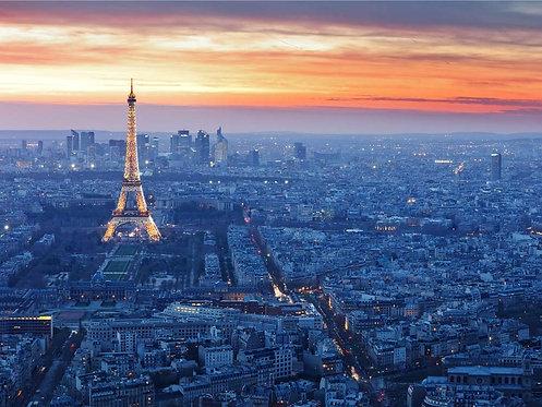 Городская ночь в Париже