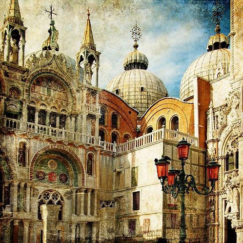 Венецианская площадь Святого Марка в ретро-стиле