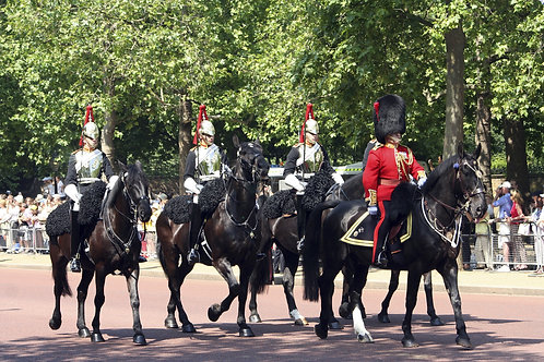 Британская Королевская гвардия на параде