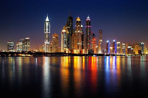 Дубайский морской пейзаж с Пальма Джумейра