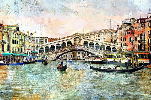 Мост Риальто в живописном стиле