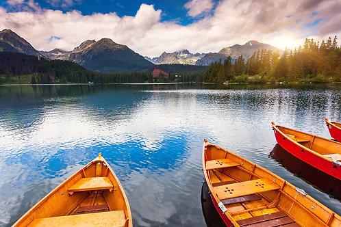 Горное озеро в национальном парке Высокие Татры - Плесо, Словакия
