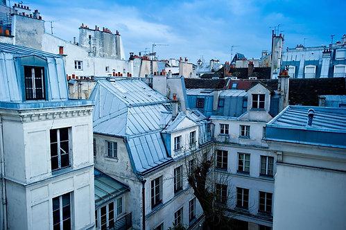 Вид на крыши домов Парижа