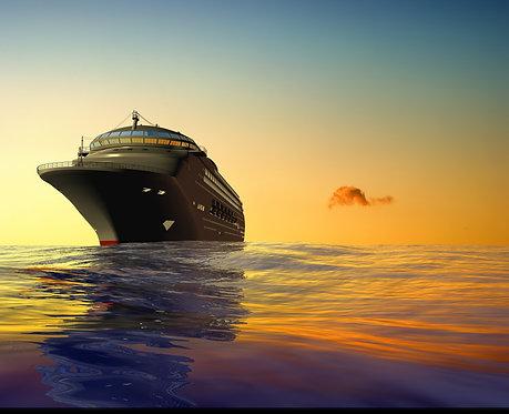Современный лайнер в океане