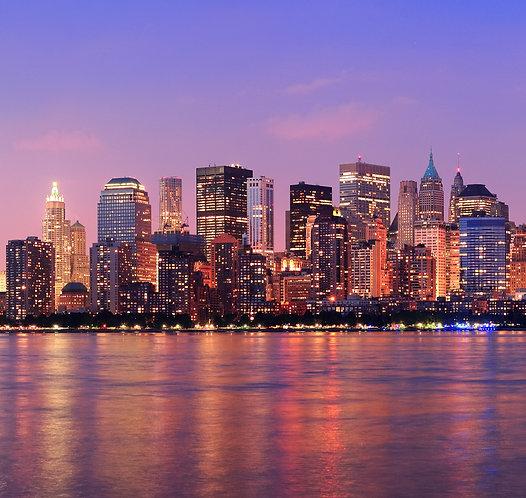 Городские огни ночного Нью-Йорка