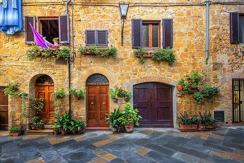 Старый красивый город Пиенца в Тоскане - Италия