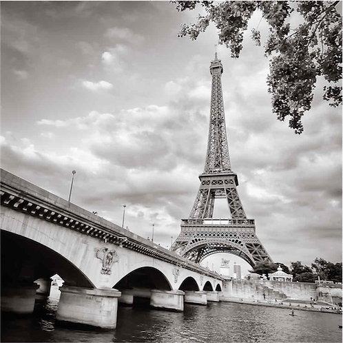 Эйфелева башня и мост