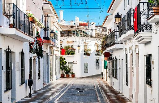 Живописная улица в Ранчо-Доминго - Испания