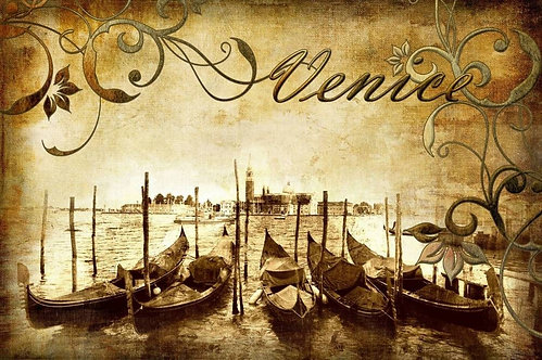 Венецианские виды в стиле ретро