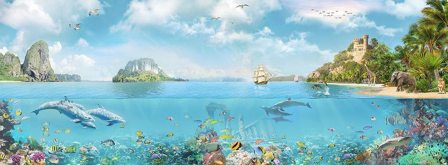 Обои. Море. Остров