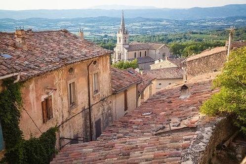Фотообои. Фрески. Картины. Черепичные крыши. Улочки старого города. Прованс