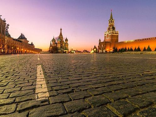 Московский Кремль и храм Василия Блаженного на рассвете