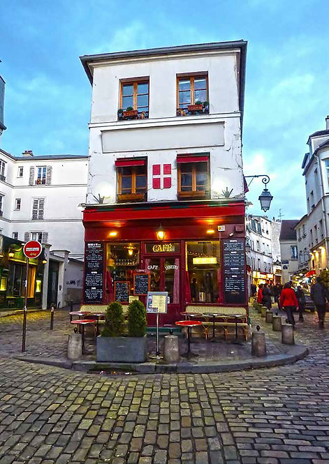 Французское кафе в Париже