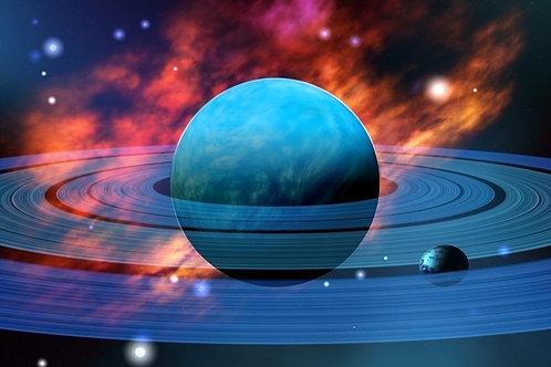 Фотообои. Фрески. Картины. Космос. Нептун. Голубая планета. Луны
