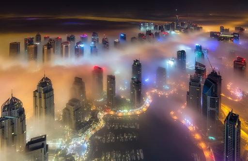 Дубайский морской пейзаж