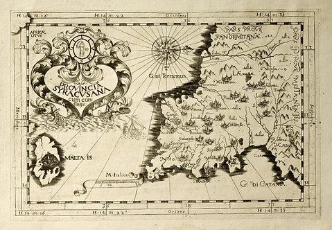 Старинная карта Сицилии