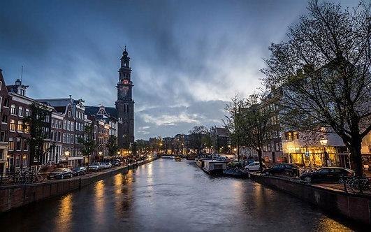 Амстердамский канал в районе Джордана