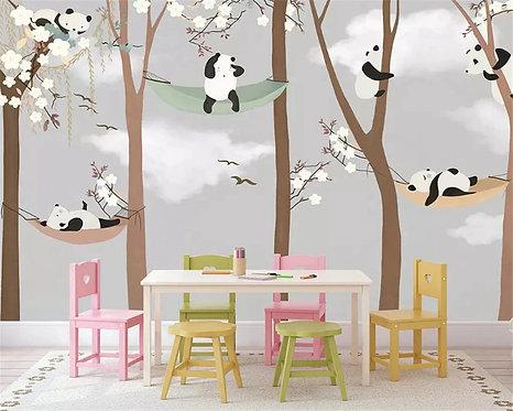 Детские обои для стен с пандами