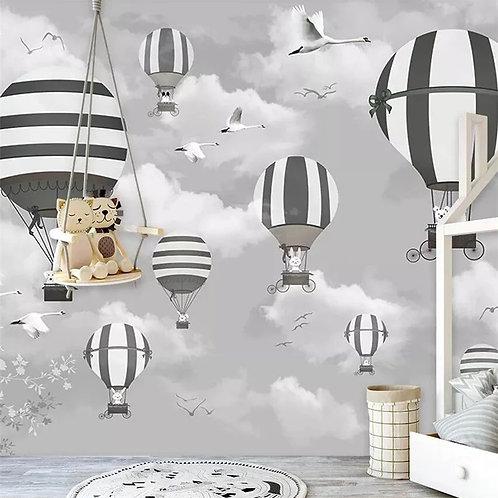Детские обои. Воздушные шары