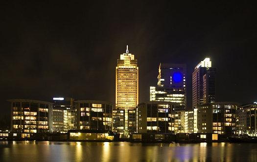 Вид на ночной Амстердам