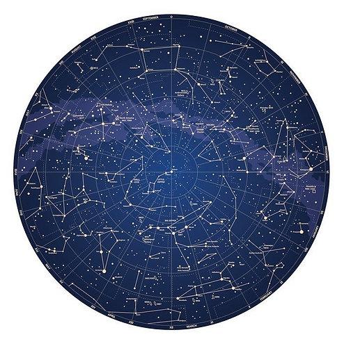 Фотообои. Фрески. Картины. Карта неба Северного полушария. Звезды и созвездия