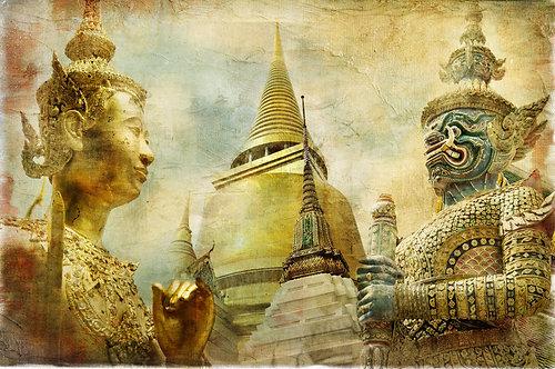 Бангкок в живописном стиле. Таиланд